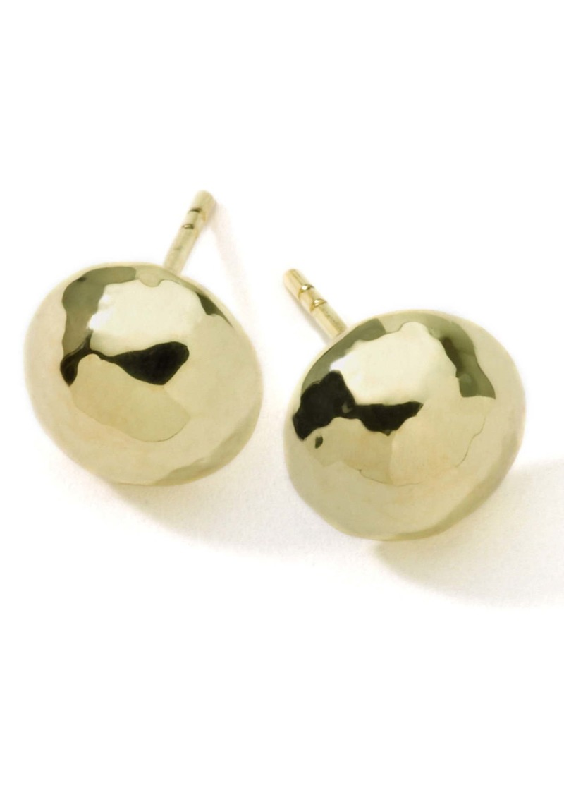 Ippolita 'Glamazon' 18k Gold Hammered Ball Earrings