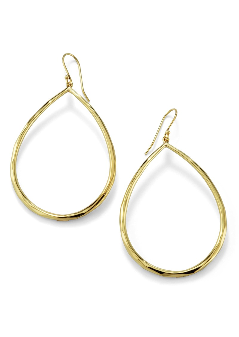 Ippolita 'Glamazon' Large Teardrop 18k Gold Earrings