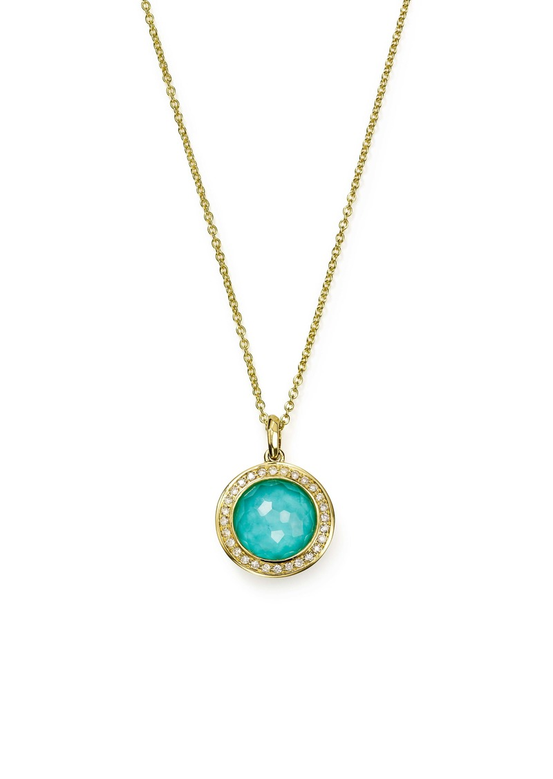 Ippolita Lollipop Mini Pendant Diamond Necklace