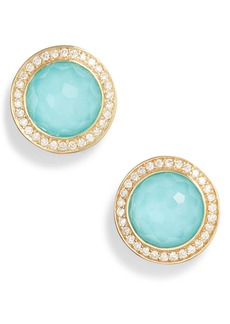 Ippolita Lollipop Stone & Diamond Stud Earrings
