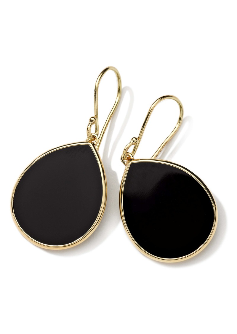 Ippolita 'Rock Candy - Mini Teardrop' 18k Gold Earrings