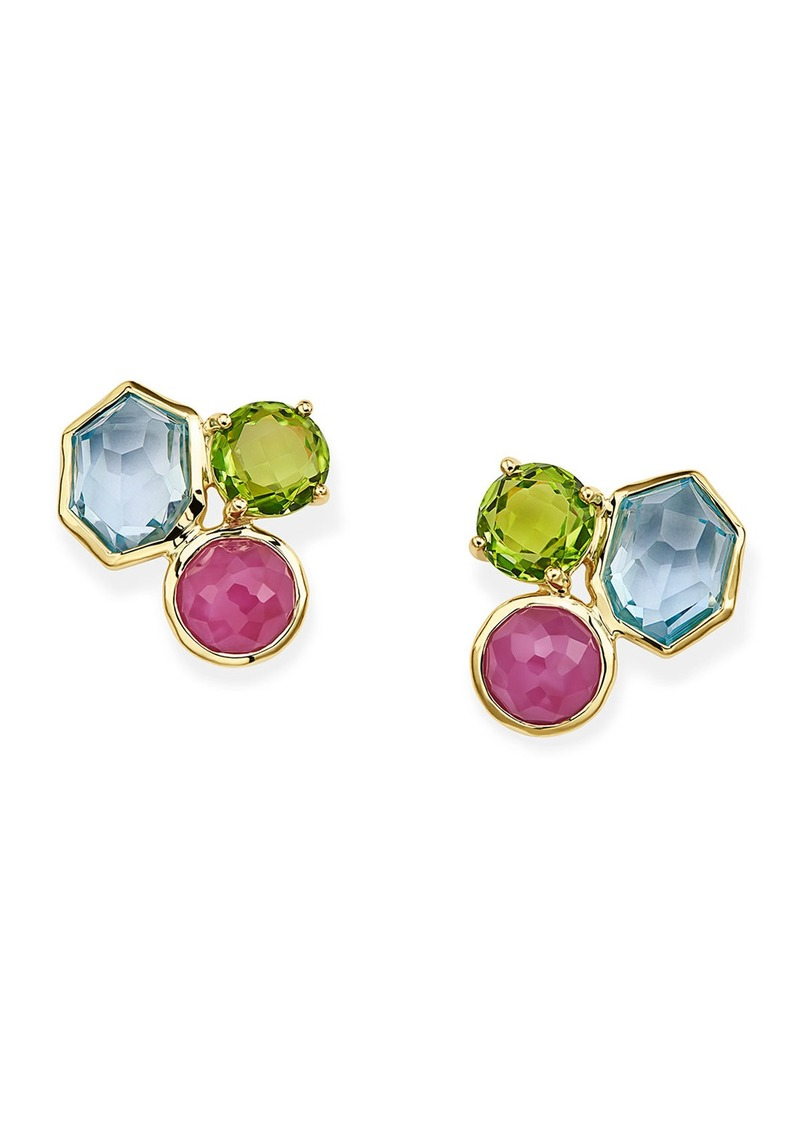 Ippolita Rock Candy 3-Stone Stud Earrings in Summer Rain