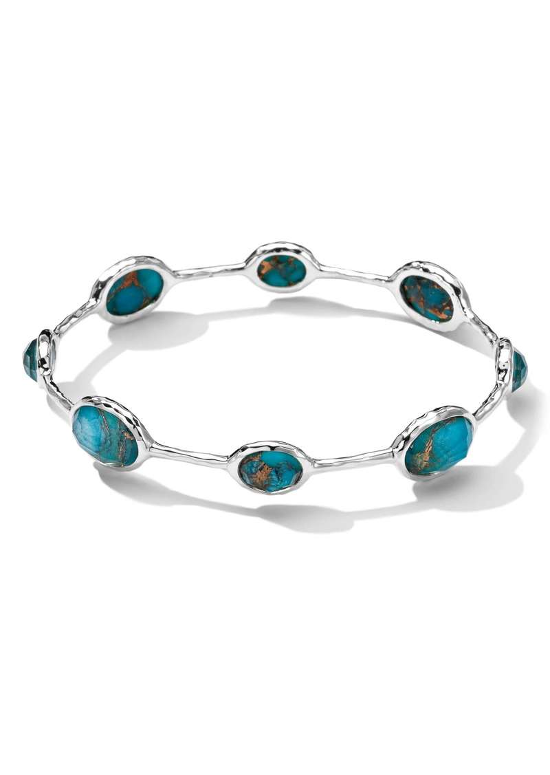 Ippolita 'Rock Candy' 8-Stone Sterling Silver Bangle (Online Only)