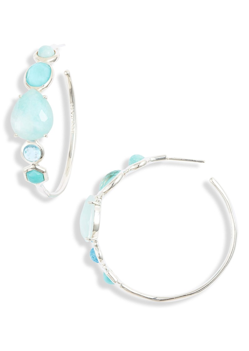 Ippolita Rock Candy Mixed Stone Bezel Hoop Earrings