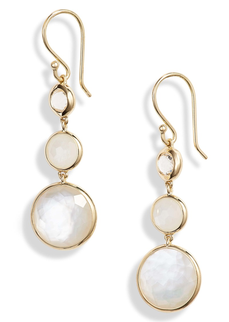 Ippolita Small Lollipop 3-Stone Drop Earrings