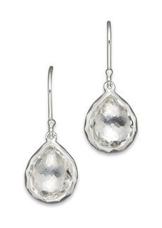 IPPOLITA Sterling Silver Rock Candy Teeny Teardrop Earrings in Clear Quartz