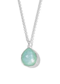 Ippolita Wonderland Large Rock Crystal & Mother-of-Pearl Teardrop Pendant Necklace