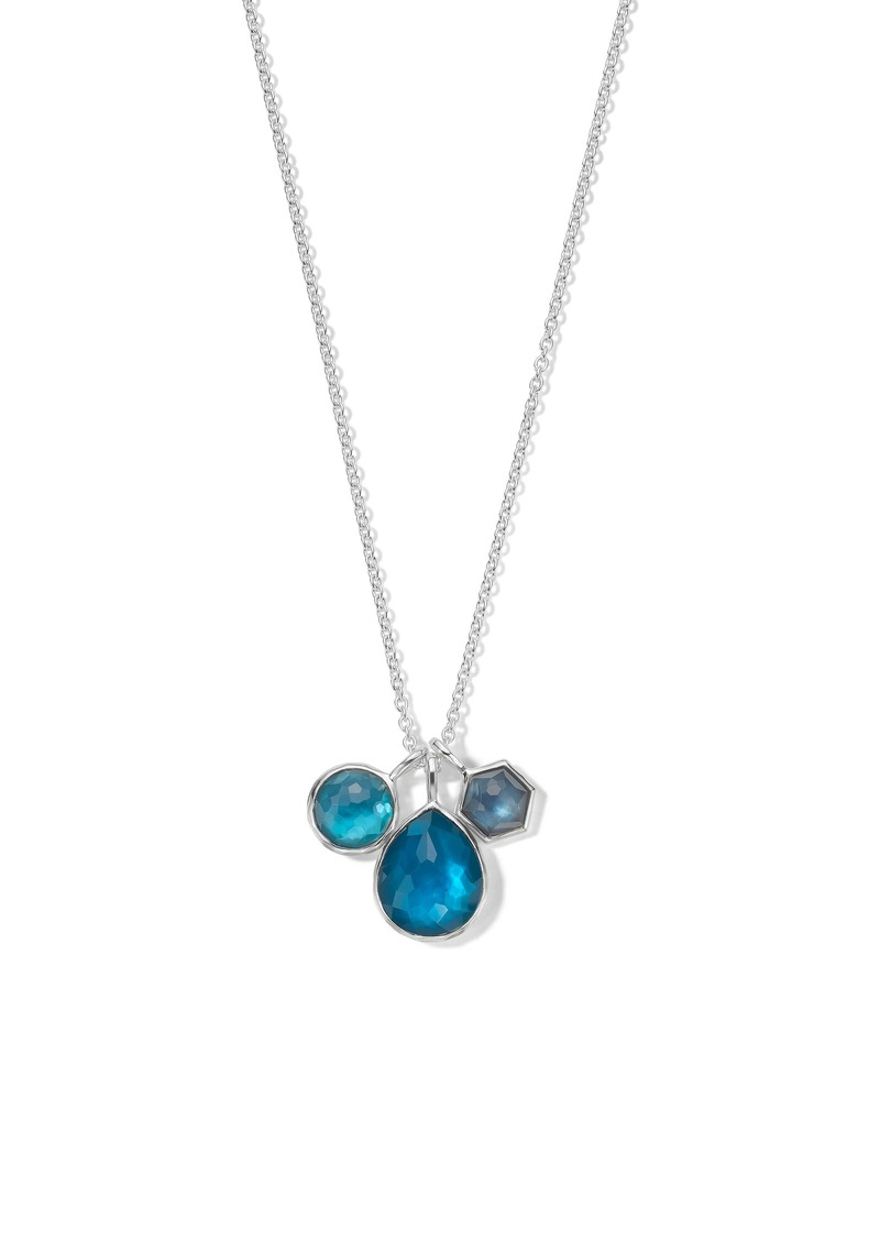 Ippolita Wonderland Triple Stone Charm Necklace