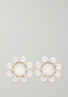 Ippolita Nova 18-karat Green Gold Pearl Earrings