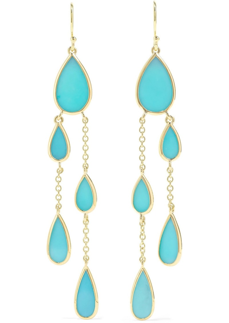 Ippolita Polished Rock Candy 18-karat Gold Turquoise Earrings