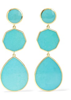 Ippolita Polished Rock Candy Crazy 8's 18-karat Gold Turquoise Earrings