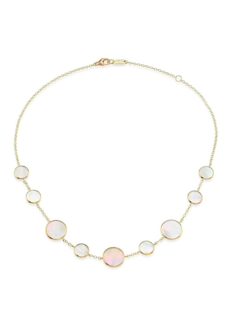 Ippolita Polished Rock Candy 18K Yellow Gold & Mother-Of-Pearl Necklace