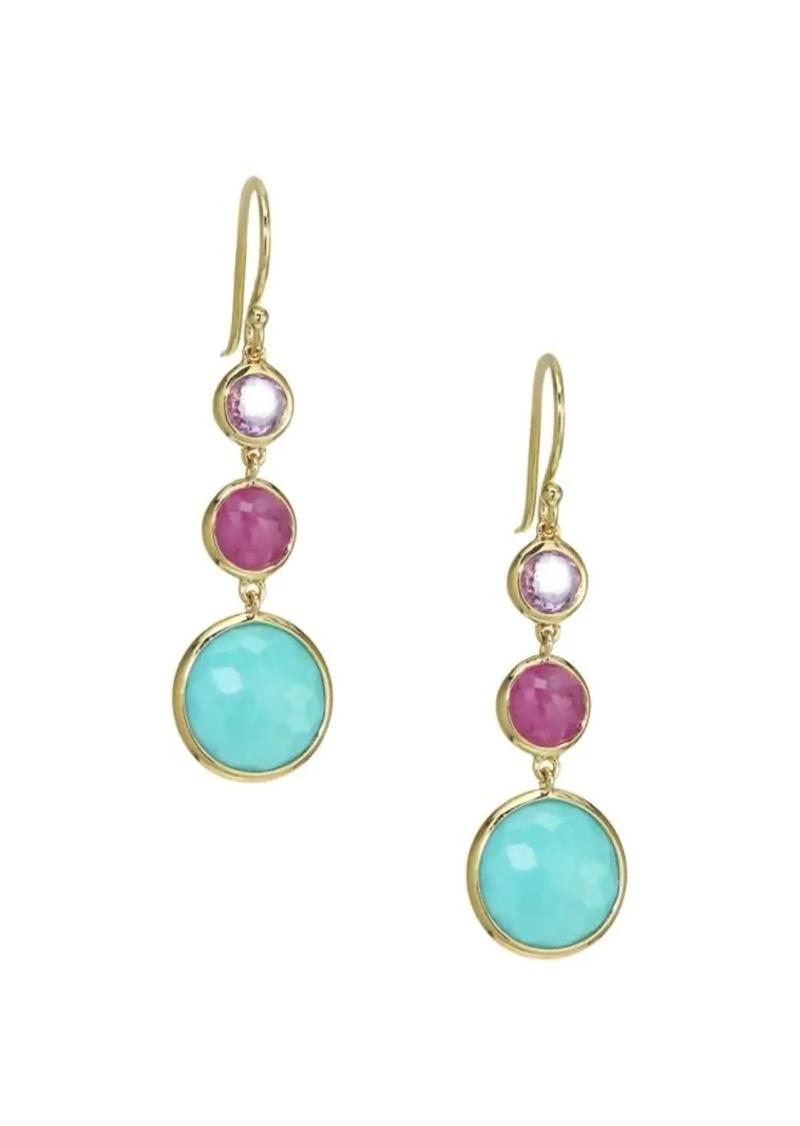 Ippolita Lollipop Lollitini 18K Yellow Gold & Multi-Stone Triple-Drop Earrings