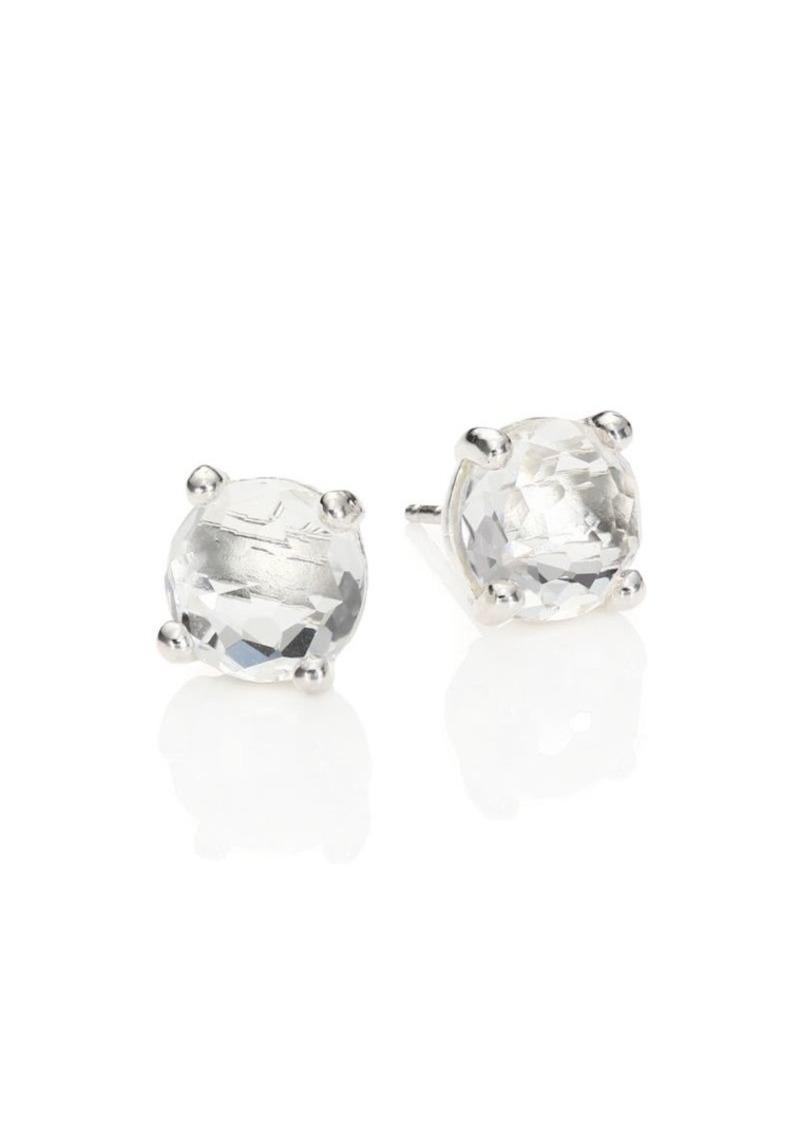 Ippolita Rock Candy Sterling Silver & Clear Quartz Stud Earrings