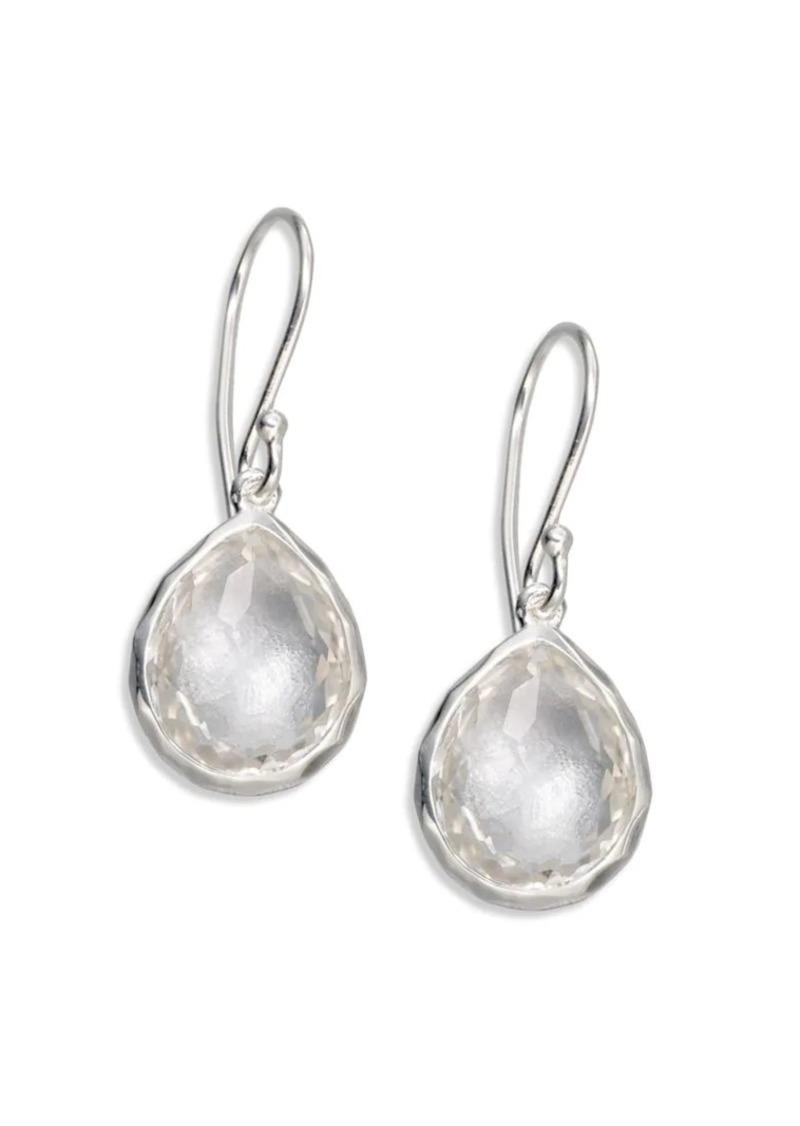 Ippolita Rock Candy® Clear Quartz & Sterling Silver Teardrop Earrings