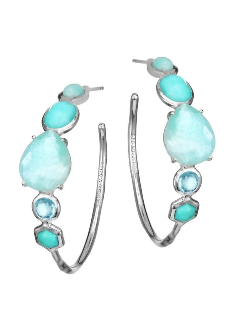 Ippolita Rock Candy Sterling Silver & Multi-Stone Hoop Earrings
