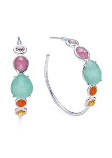 Ippolita Rock Candy multi-stone hoop earrings