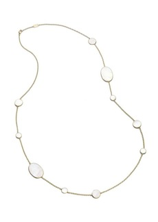 Ippolita Polished Rock Candy 18K Yellow Gold & Mother-Of-Pearl Mixed-Shape Necklace