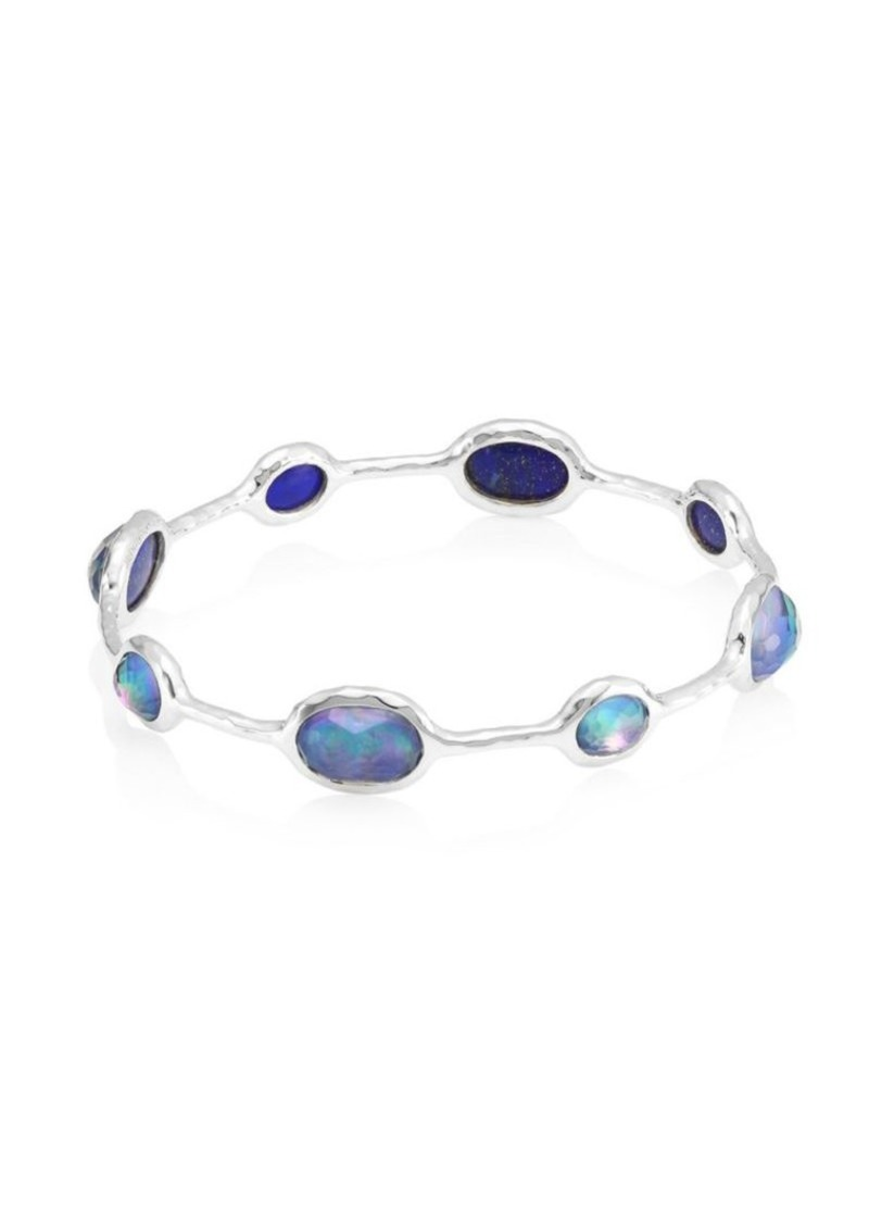Ippolita Rock Candy Sterling Silver & Triplet 8-Stone Bangle Bracelet