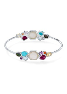Ippolita Rock Candy Sterling Silver Geometric Stone Cluster Bangle Bracelet