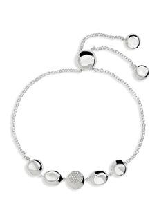 Ippolita Sterling Silver Onda Diamond Chain Bracelet - 0.10 ctw