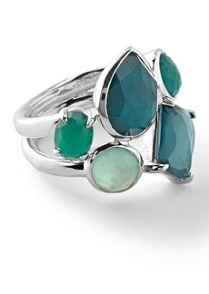 Ippolita Sterling Silver Rock Candy® Wonerland Multi Stone Prong and Bezel Ring in Neptune