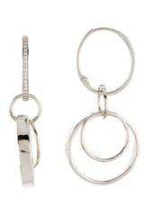 Ippolita Sterling Silver Stardust Multi-Link Diamond Hoop Earrings - 0.01 ctw