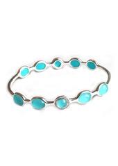 Ippolita Sterling Silver Turquoise & Diamond Bangle
