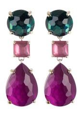 Ippolita Sterling Silver Wonderland 3-Stone Link Drop Earrings