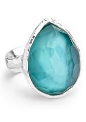 Ippolita Sterling Silver Wonderland Denim Teardrop Ring - Size 6
