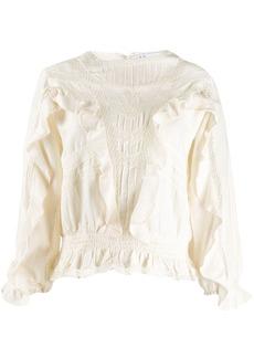 IRO ruffle trimmed blouse