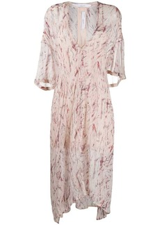 IRO abstract print chiffon dress
