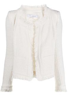 IRO Aley frayed-trimmed tweed jacket