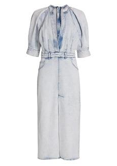 IRO Alysu Denim Midi Dress
