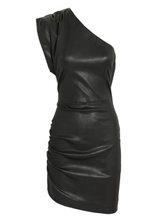 IRO Apria One Shoulder Leather Dress