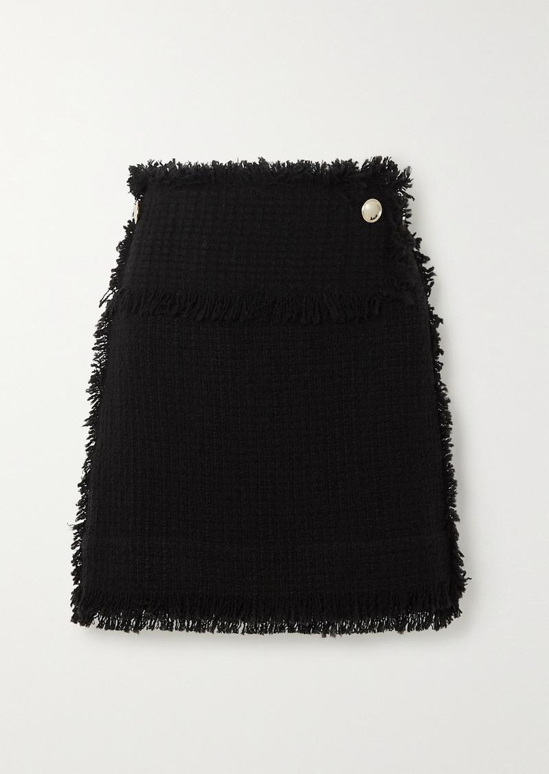 IRO Ario Frayed Bouclé Mini Skirt