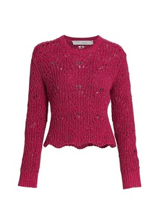 IRO Aryna Scalloped Knit Sweater