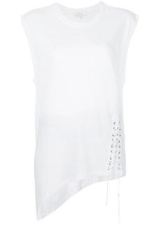 IRO asymmetric lace detail tank
