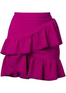 IRO asymmetric ruffle skirt
