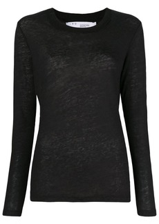 IRO back printed long sleeve top