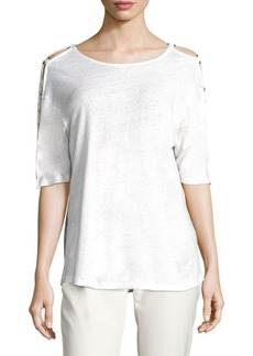 IRO Balkis Ring Cut-Out Tee