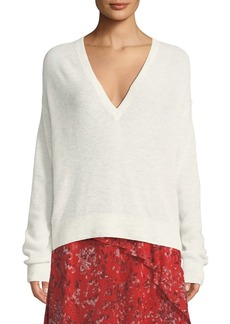 IRO Ball Long-Sleeve V-Neck Top