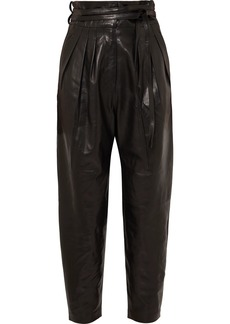 IRO Belted Leather Tapered Pants