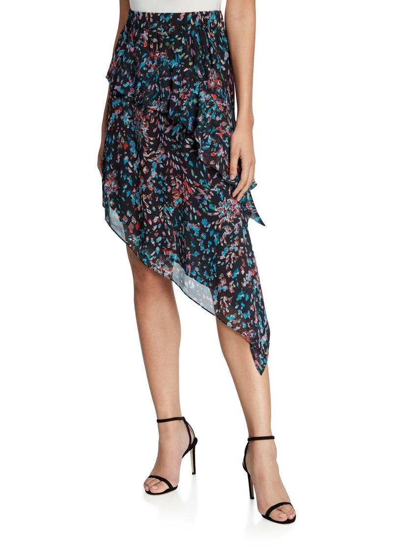 IRO Blink Asymmetric Midi Skirt