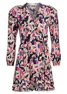 IRO Bloomy Printed Wrap Dress