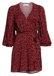 IRO Boina Leopard Wrap Dress