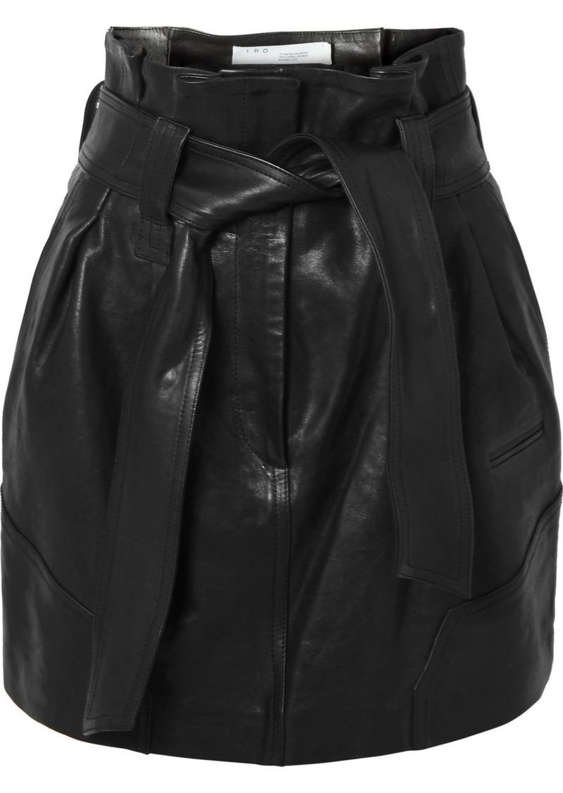 IRO Bolsy Belted Leather Mini Skirt