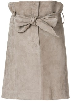 IRO bow tie high waisted skirt
