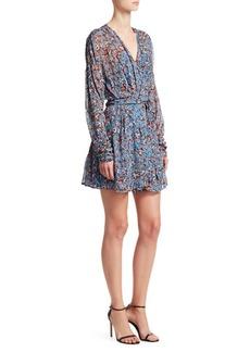 IRO Bustle Floral Wrap Dress