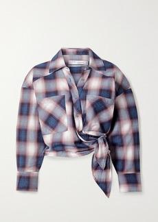 IRO Camde Checked Cotton-flannel Wrap Shirt